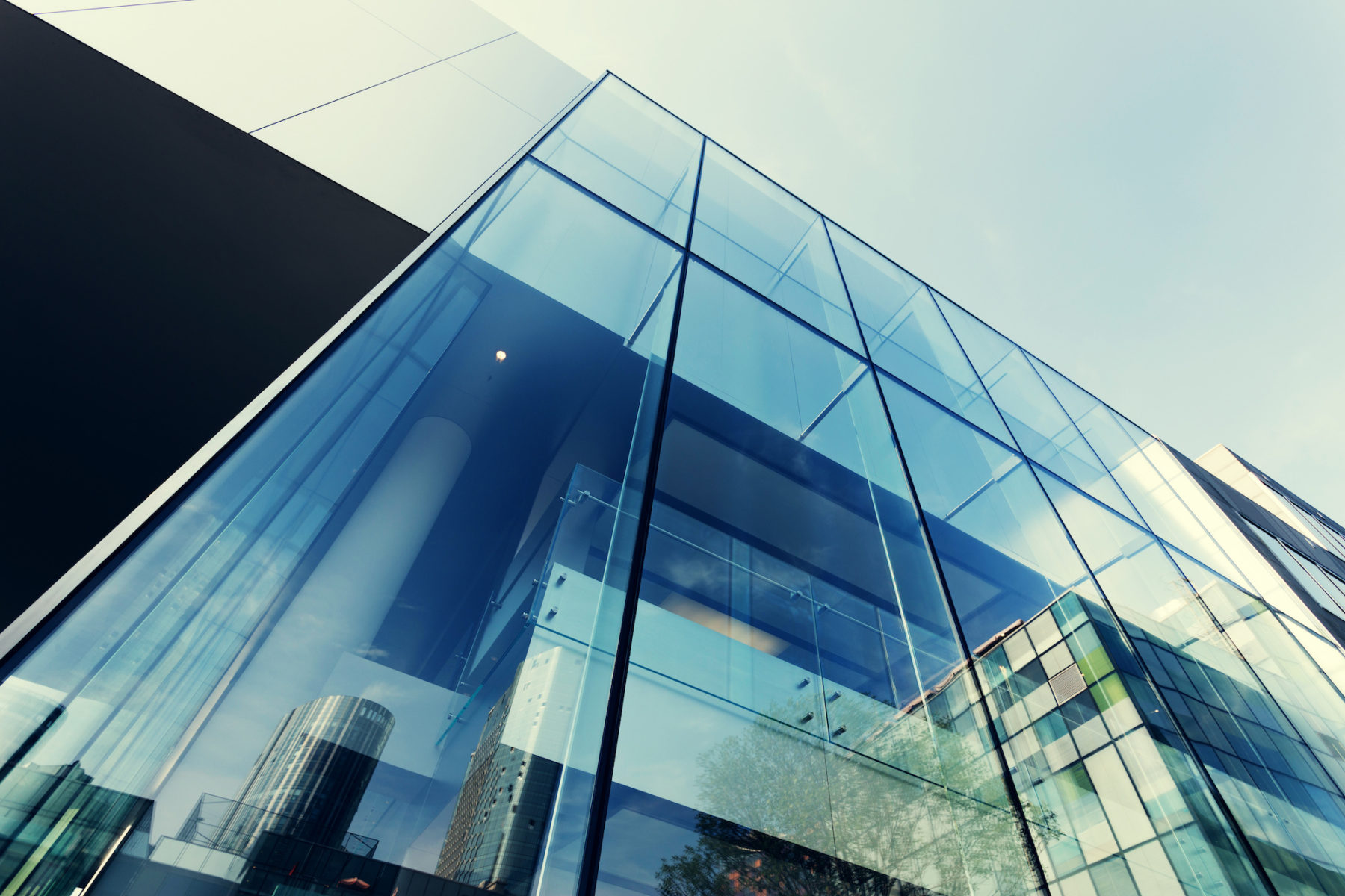 modern structural glass building inspectors