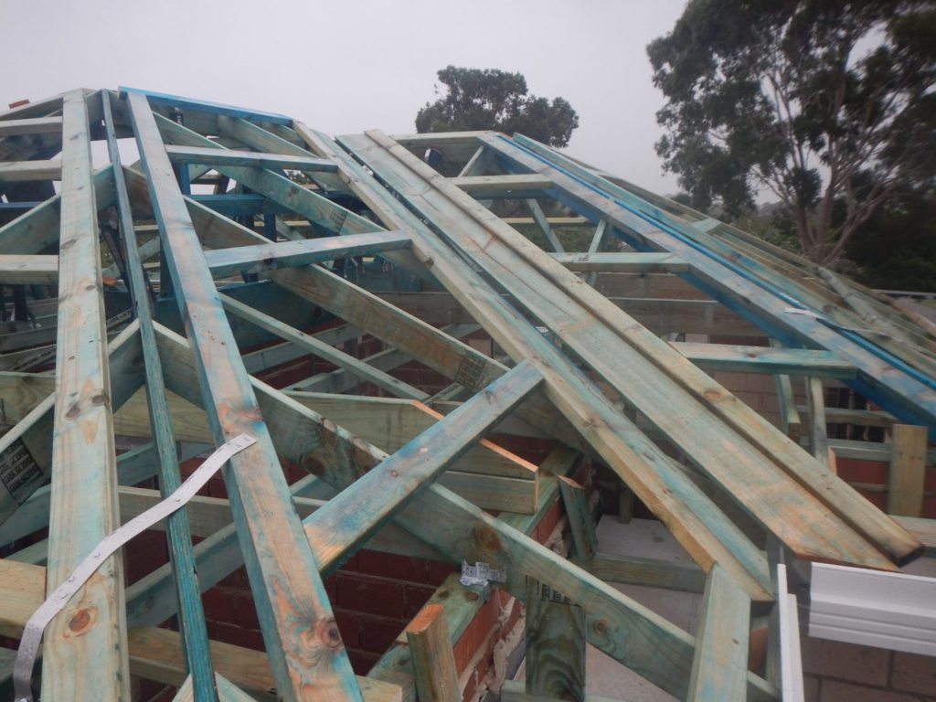 New roof frame building inspection